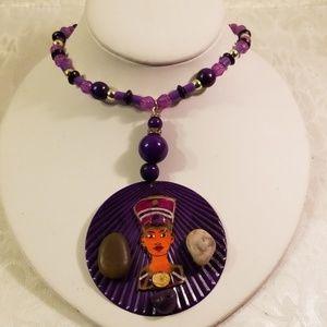 Jewelry - Front profile Queen nefertiti choker